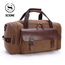 Scione mężczyźni o dużej pojemności płótno Crossbody torby podróżne praktyczny Weekend bagaż worek marynarski kobiety wysokiej jakości torebka na ramię