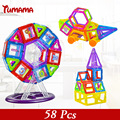 Modelos de roda magnética 58 pcs mini magnetic & kits de construção de blocos de construção 3d designer de set crianças diy brinquedos educativos kds