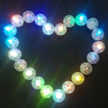100 unids/lote Color redondo Mini Led Flash bola lámpara poner en papel linterna globo luces para Navidad decoración para fiesta de boda(China)