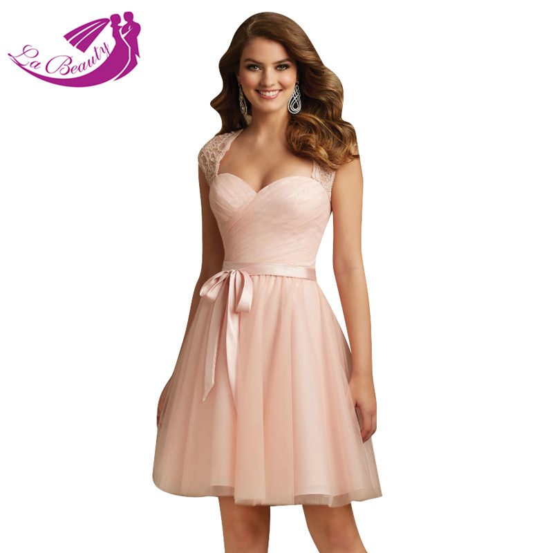 Aliexpress.com : Buy Blush Pink Tulle Lace Cocktail Dresses Short ...