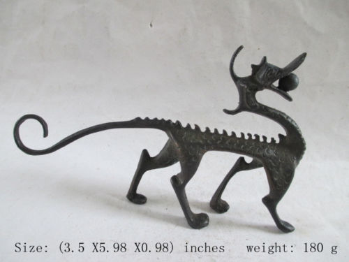 Statue de Dragon à collectionner en cuivre