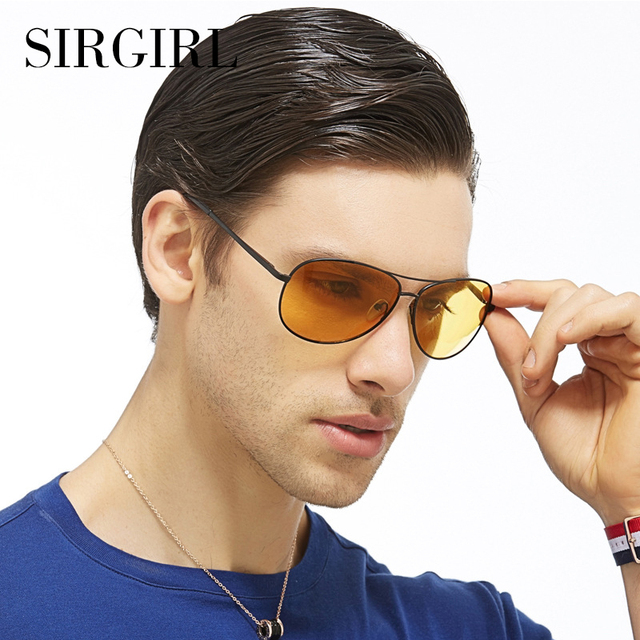 ae0f54c2e5 Sirgirl Day and Night Driving Multi-Function Polarized Pilot Sunglasses Men  Gradient Lens Anti-Glare Night Vision Glasses