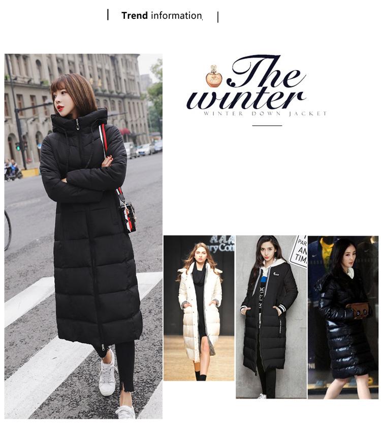 edbe11a1859 Plus Size Puffer Jacket Korean Womens Winter Fashion 2018 White Warm Long  Coat 5xl 6xl Casual Red Turtleneck Parka Hooded Black