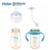3 pçs/lote haier brillante 330 ml pes anti-cólica copo alça do bebê aprender a beber palha garrafa frasco de alimentação de lactentes mamadeira