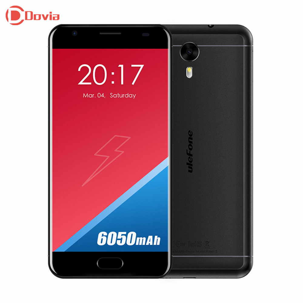 Ulefone Power 2 4G Telephone 5.5 inch Android 7.0 MTK6750T Octa Core 4GB RAM 64GB ROM 13MP Camera Fingerprint Scanner Smartphone