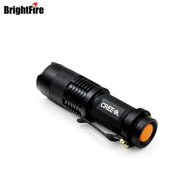 Super Mini CREE Q5 Waterproof 3-Mode Zoomable LED Flashlight lantern Torch Light Lanterna