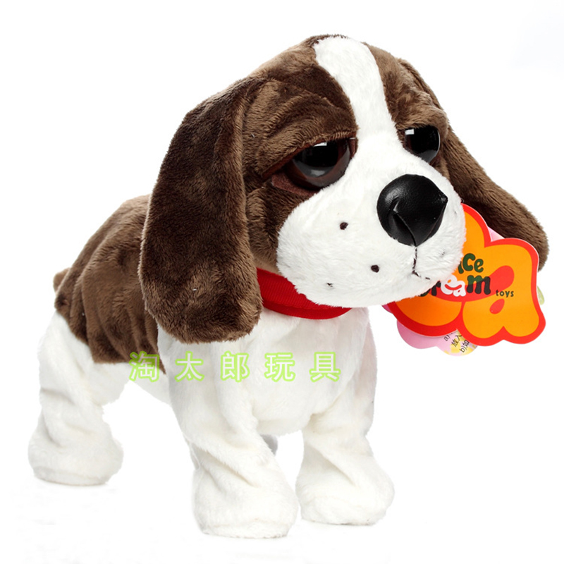 Kids Electronic Pet Toys Dog Walking Toy Puppy Interactive Toys Pet For Children Toys Funny Battery Robot Dog Barking 1 Year Old image