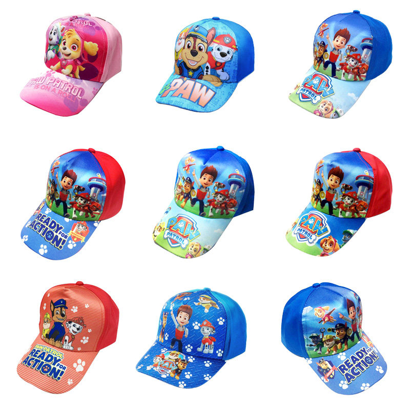 2019 Paw Patrol Hat Children's Cap Toy Puppy Patrol Kis Summer Hats Figure Toy Birthday Christmas Gift High Quality