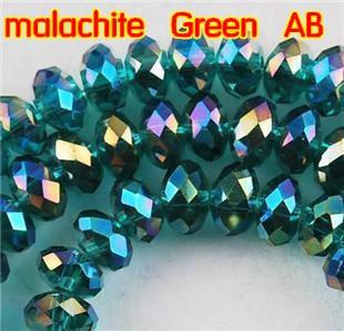 5040 AAA kiváló minőségű malachit Green AB színű, laza Crystal - Divatékszer