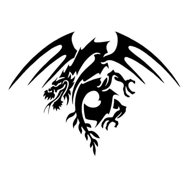 03736610a 16*11.7CM 2x Flying Tribal Dragon (Left & Right) Fashion Vinyl Personality