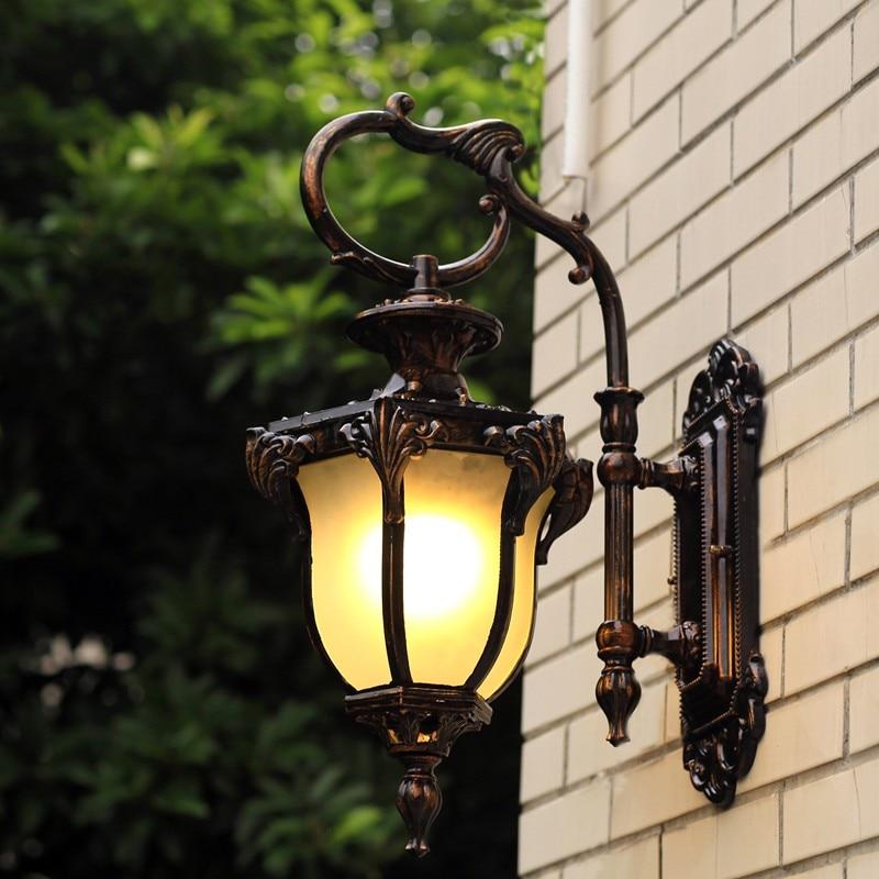 Vintage Antique Waterdrops Waterproof Design Light Shade Wall Sconces Modern Kerosene Lamp rerto edison bulbs outdoor lighting