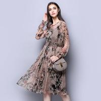 100 Silk Chiffon Dress Pure Silk Gauz Women Dresses With Lining New Arrival Spring Style