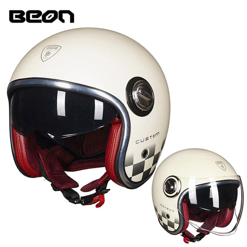 BEON Motorcycle Helmet Open Face Casque Capacete Casco Moto Kask Helmets Jet Helm For Vespa Motor Motorbike Motocyklowy