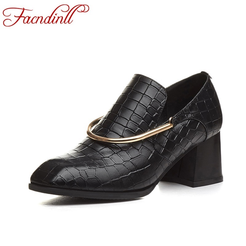 ФОТО new brand design women shoes leather pumps fashion genuine leather shoes casual loafers women party dress shoes black