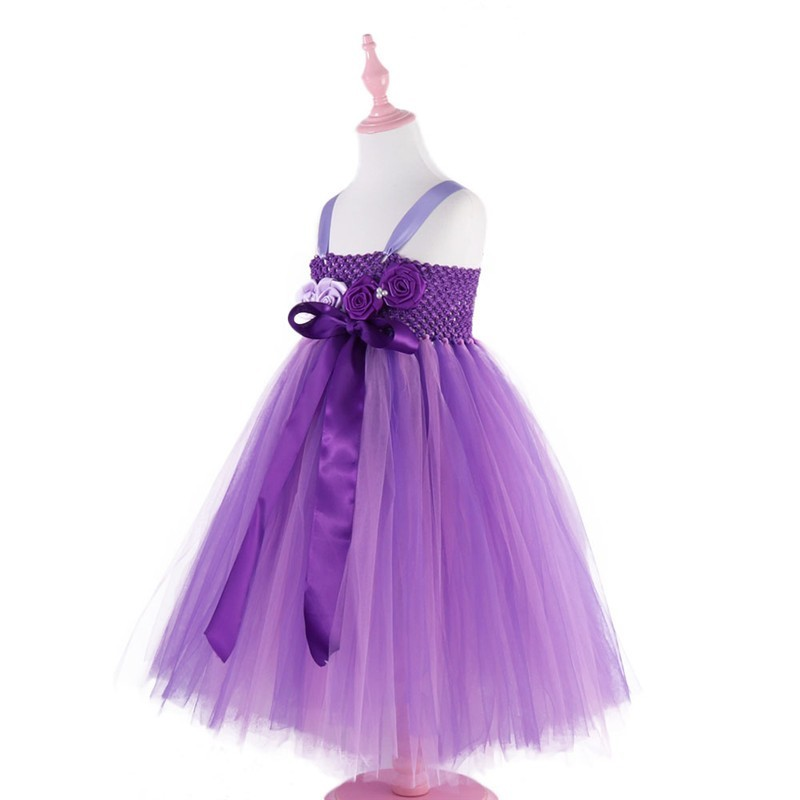Moeble Mor Ayak Bileği uzunlukta Kız Çiçek Elbiseler Çocuklar - Çocuk Giyim - Fotoğraf 3