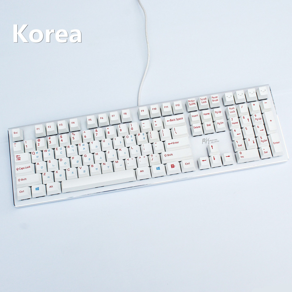 Standard Keyboard Computer Keyboard USB 108 Keys Korean-English Key