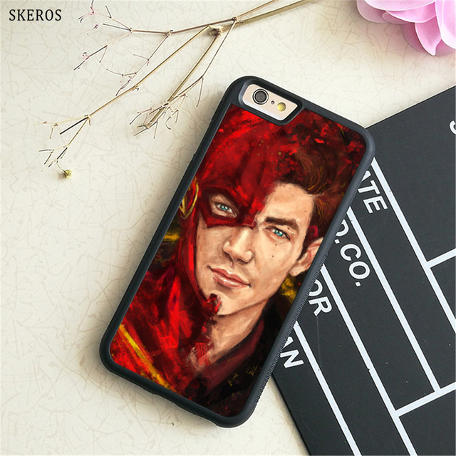 new style ae2a6 002e8 US $4.99 |SKEROS grant gustin the flash phone case for iphone X 4 4s 5 5s 6  6s 7 8 6 plus 6s plus 7 & 8 plus #B249-in Fitted Cases from Cellphones & ...