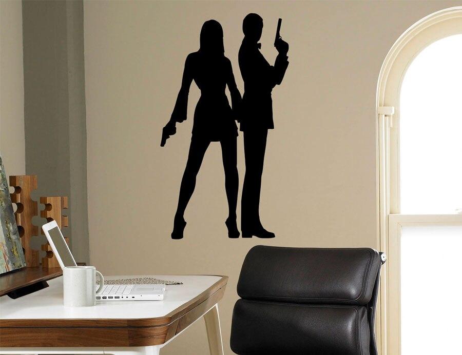 Aliexpress Com Buy Secret Agent 007 Wall Decal James