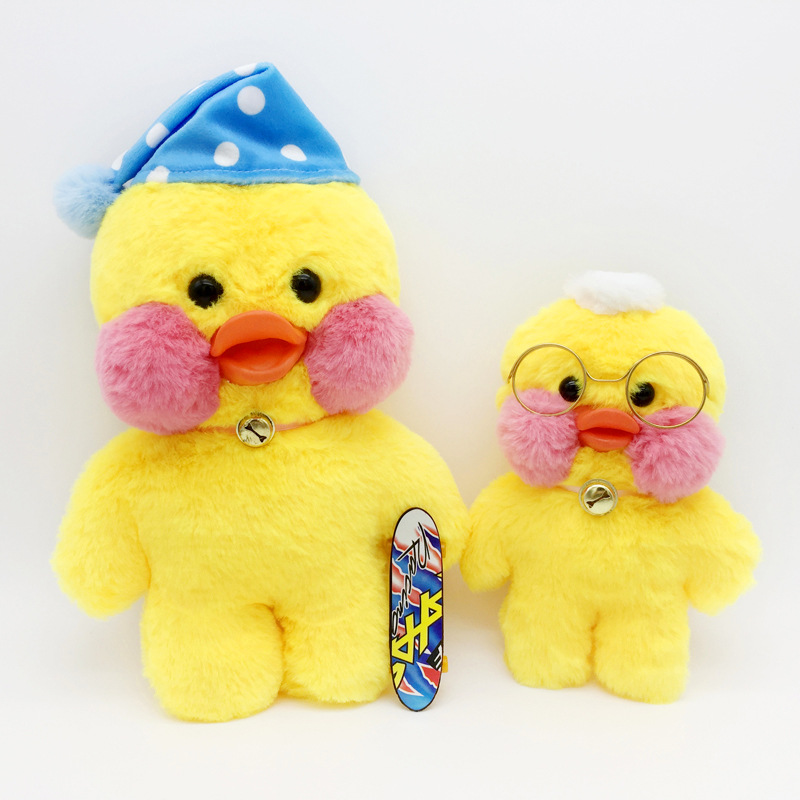 30cm Kawaii Yellow Duck Plush Toy INS popular duck Cute cafe mini Duck Stuffed Animal Dolls Kids Toys Birthday Gift for Children mini kawaii plush stuffed animal cartoon kids toys for girls children baby birthday christmas gift angela rabbit metoo doll
