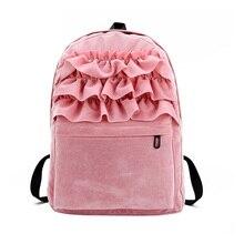 Новинка 2017 года Лолита Flouncing Кружево рюкзак студенты сплошной бархат рюкзак книга Сумка Школьные сумки forteenager Обувь для девочек путешествия WML