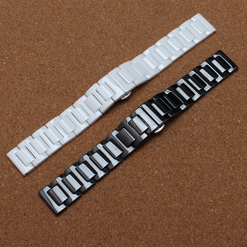 Hot Sale Ceramic 14mm 16mm 18mm 19mm 20mm 22mm Black White Watchband Men Women Bracelet For women dress new General Watch Strap 2016 new hot sale brand magic star black white analog quartz bracelet watch wristwatches for women girls men lovers op001