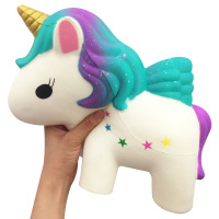 Huge Jumbo Squishy Toys Cute Super Big Unicorn Horse Slow Rising Fly Unicorn Squishies Stress Relief Toy Kids Antistress Gift
