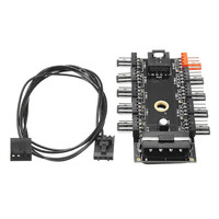 12V 10 Way 4pin PWM Fan Hub Speed Controller Regulator For Computer Case With PWM Connection Cable CPU Fan Dedicated Interface dispensador de cereal peru