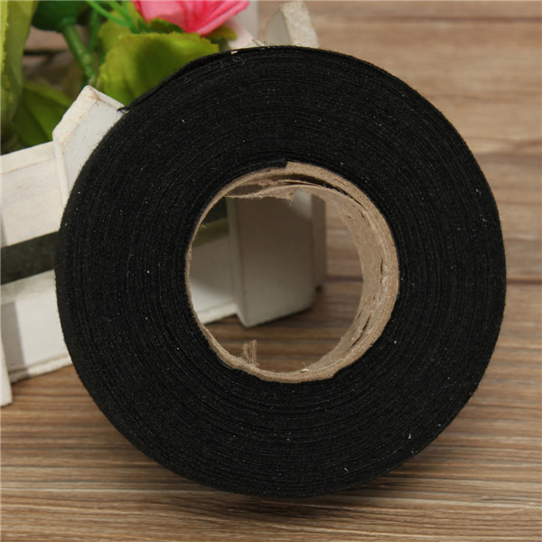 online buy whole wire sticker from wire sticker new 19mmx 15m hot adhesive cloth fabric tape cable looms wiring harness for car auto