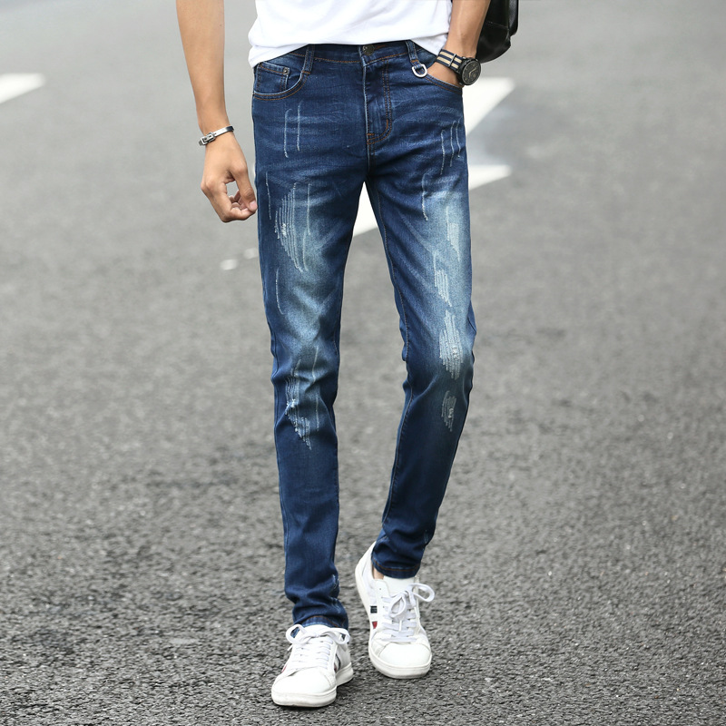 2019 New   Jeans   Men Fashion Elasticity High Quality Ripped Slim Fit   Jeans   Male Casual Skinny Cotton Straight Pants Plus Size