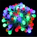 Changeable 10M 50 led Light Bulb AC220V Holiday Decoration Lamp Festival Christmas lights Indoor Outdoor lighting