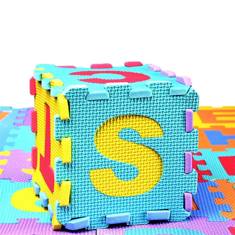 36pcs Set EVA Baby Foam Clawling Mats Puzzle Toys For Kids Floor Play Mat Educational Number 36pcs/Set EVA Baby Foam Clawling Mats Puzzle Toys For Kids Floor Play Mat Educational Number Letter Childrens Carpet 15.5*15.5cm