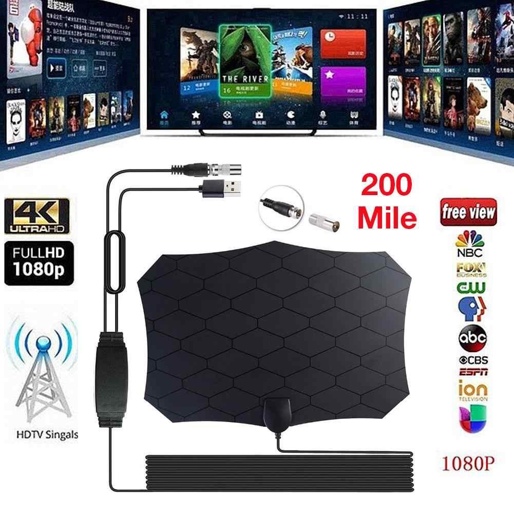 200/240 Mile Digital TV Antenna 25DB HDTV Grid Antenna with Amplifier  Signal Booster Radius Fox DVB-T2 Satellite HD Mini Antenas