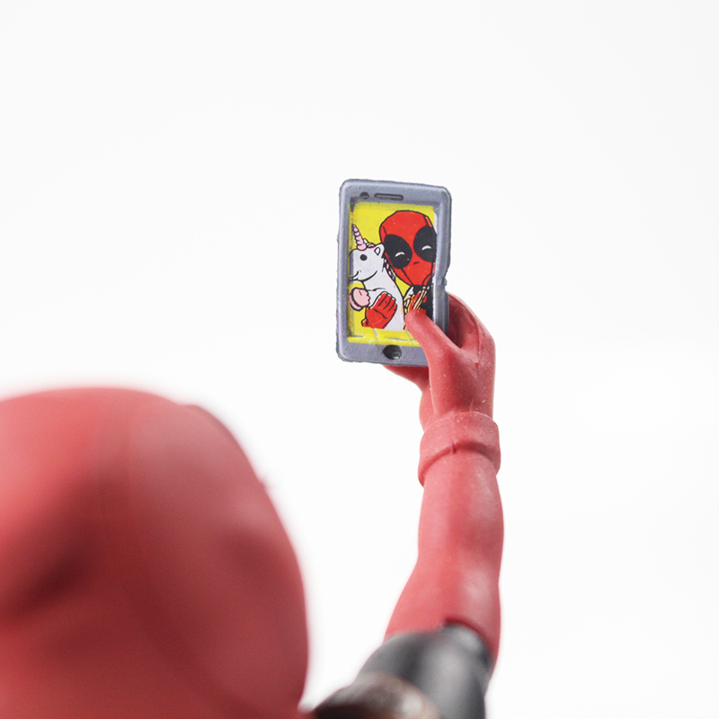 Funny Deadpool unicorn selfie figure 4