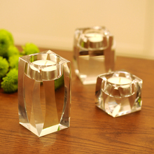 Europe crystal candle holders wedding centerpieces centro de mesa decorativo glass holder candles home decoration