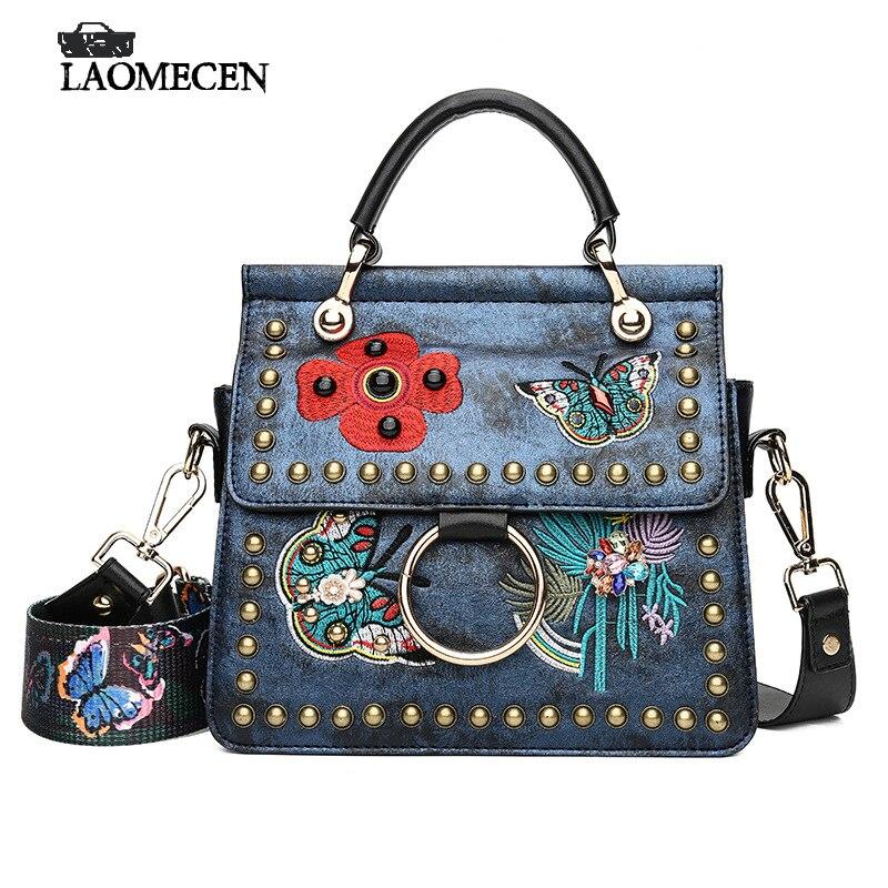 Kvinnor Varumärken Handväskor Med Rivet Färgglada Butterfly - Handväskor - Foto 1