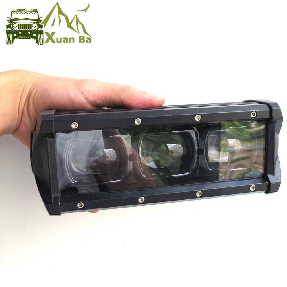 "6D Lens 8"" 14"" 20"" 27"" 33"" 40"" 46"" 53 Inch Single Row Led Bar Light For Offroad 4x4 4WD Atv Uaz Flood Beam Driving Work Lights"