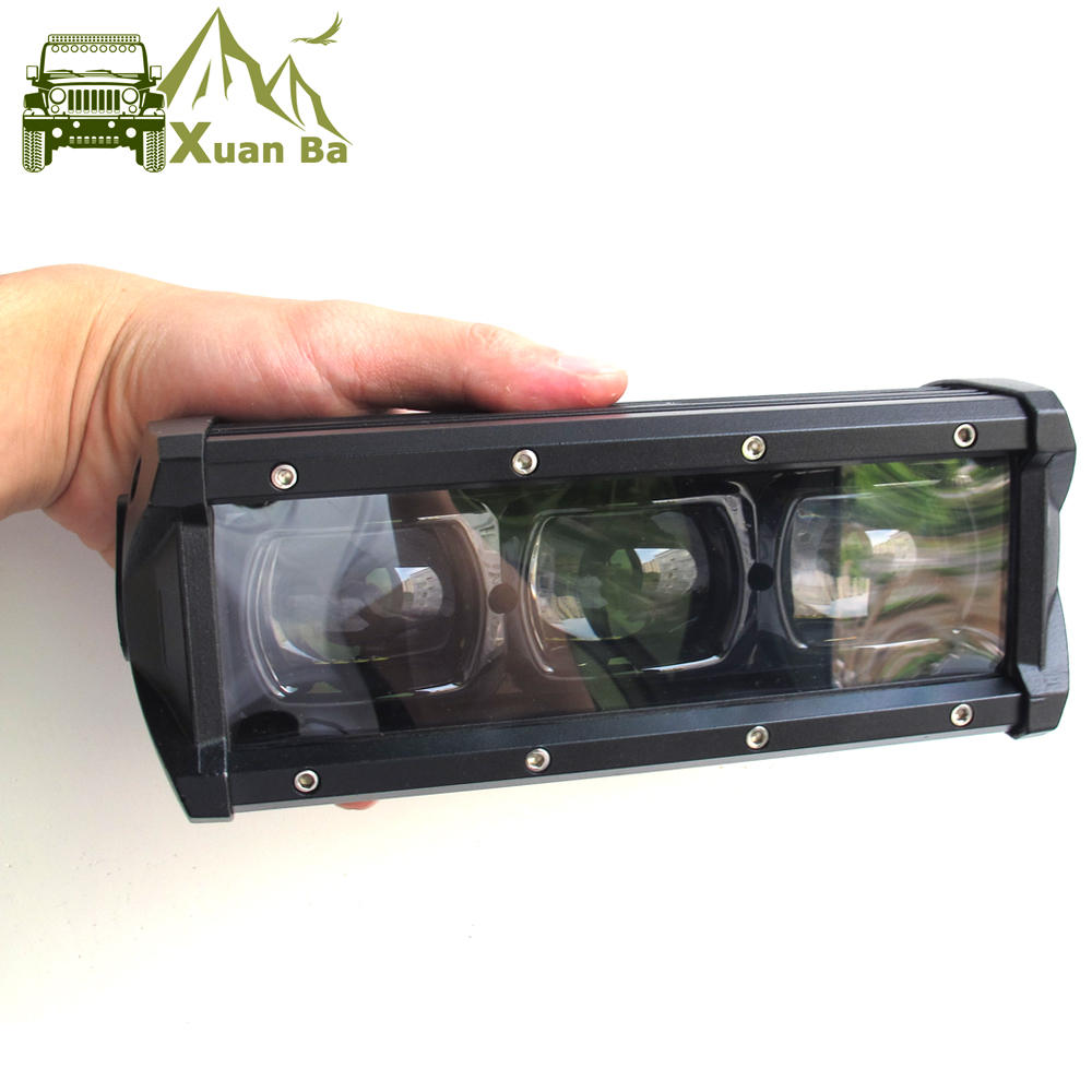 6D Lens 8 14 20 27 33 40 46 53 Inch Single Row Led Bar Light For Offroad 4x4 4WD Atv Uaz Flood Beam Driving Work Lights