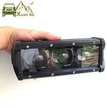 """6D Lens 8 """"14"""" 20 """"27"""" 33 """"40"""" 46 """"53 inç tek sıra Led Bar ışığı offroad 4x4 için 4WD Atv Uaz sel ışın sürüş çalışma ışıkları"""