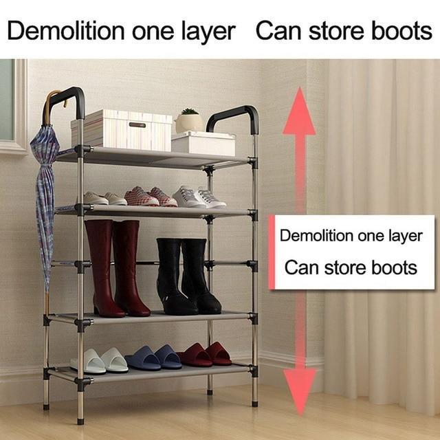 Storage Shoe Rack Hallway Cabinet Organizer Holder 3/4/5 Layers Assemble Shoes Shelf Home Living Room Furniture  Shoe Racks 4