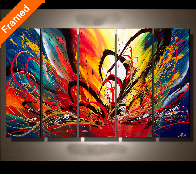 Paint Color Meaning aliexpress : buy colorful canvas painting for bedroom fashion