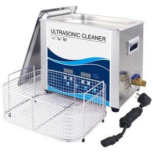 Image 5 - Banho de Limpeza ultra sônica 10L Degas Aquecedor 360 W/240 W 40 KHZ Lavadora Ultra sônica para Carro Motor de Laboratório Eletrônico partes de Óleo De Manchas Dental