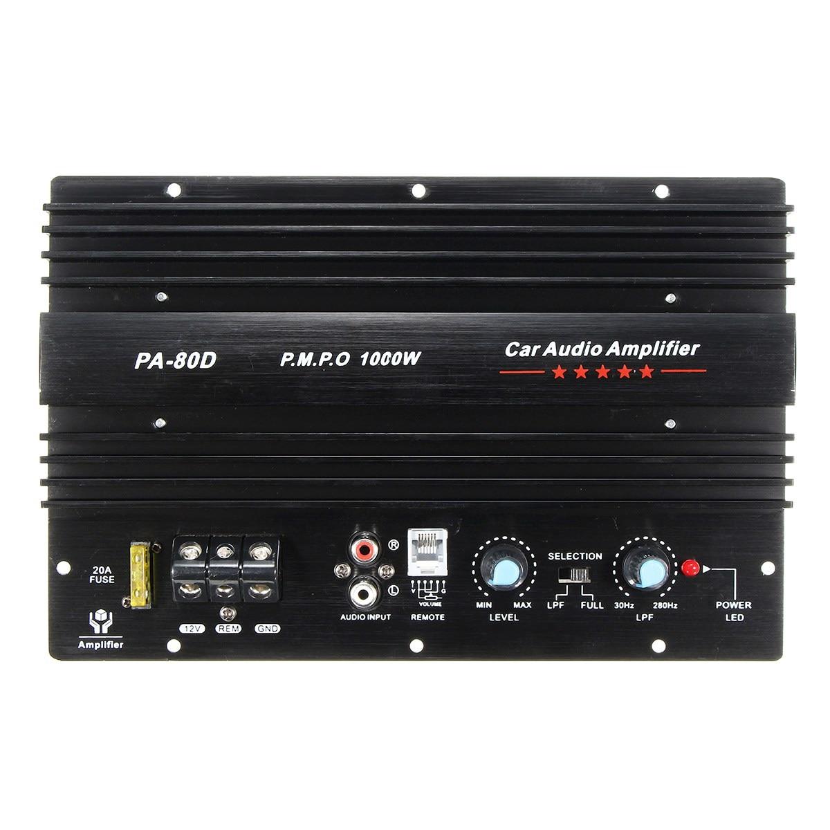 2018 Новое прибытие 12 В 1000 Вт моно Аудиомагнитолы автомобильные Мощность Усилители домашние Мощность ful бас Сабвуферы для автомобиля AMP pa-80d