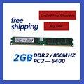 Акция DDR2 800/PC2 6400 2 ГБ DDR2 RAM Памяти для всех MB совместимый с DDR2 667 МГц/533 МГц Бесплатная Shippiing