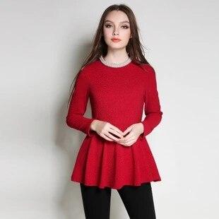 2018 Новая мода весна чудо-женщины футболка. Бжезинский жемчуг О-образным вырезом одежда красного цвета. Большие размеры женские Топы. 2XL-5xl AD08