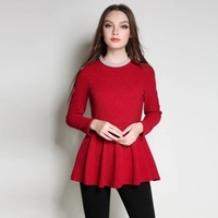 2018 New Fashion Spring wonder women T shirt . beset with pearls O neck red clothes. plus size women tops .2XL~5XL AD08