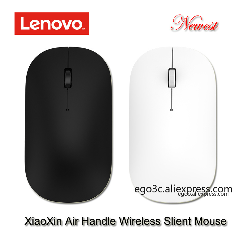 Newest lenovo xiaoxin air handle Wireless Mouse 4000dpi 2.4GHz Optical Portable silent Mouse 10m working distance for notebook-in Mice from Computer & Office