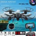Mini Drone con cámara SKD20W WiFi 2MP Cámara FPV 2.4 GHz 4 Canales 6 Axis Gyro Quadcopter 3D Anti-rollove RC helicóptero juguete