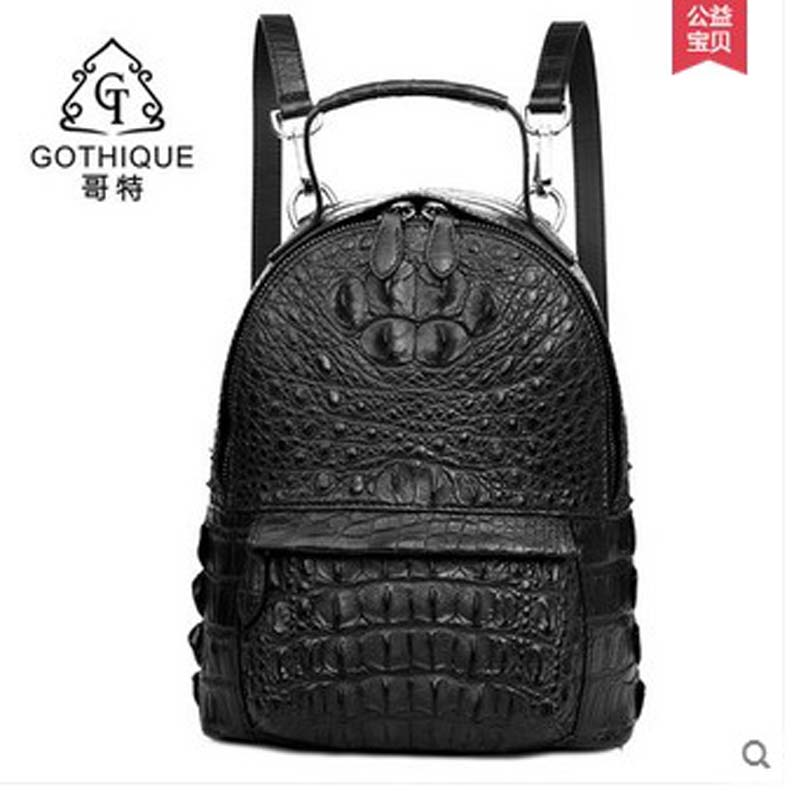 gete 2018 new hot free shipping Thai crocodile women backpack women leather leisure female leisure women backpack joker hot free shipping 8xl 10xl brand pants leisure