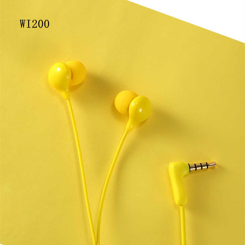 Asli REMAX WK 200 Earphone Wired Headset Kebisingan Membatalkan Fashion In-Ear Earphone untuk iPhone Xiaomi Ponsel PS4