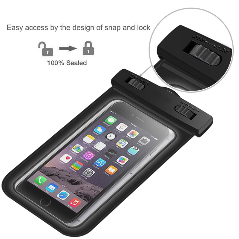 promo code 50666 8c267 US $1.99 |Universal Waterproof Underwater Pouch Dry Bag Case Cover Cell  Phone Swimming Bag Touchscreen For iphone 4s 5s 6 6s plus-in Phone Pouch  from ...
